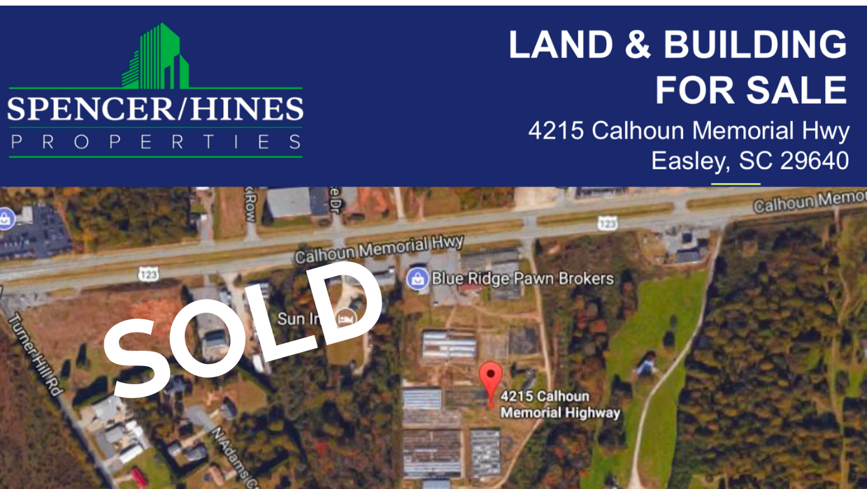 SOLD – 17 Acres on Calhoun Memorial Hwy, Easley