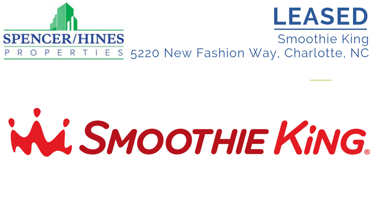 LEASED – Smoothie King in Charlotte, NC