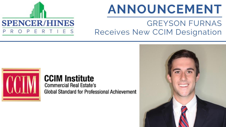 Greyson Furnas Receives CCIM Designation