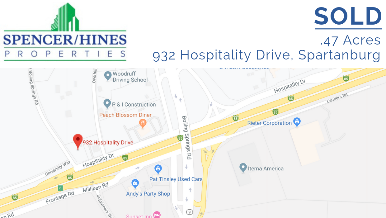 SOLD – .47 Acres  on Hospitality Drive, Spartanburg