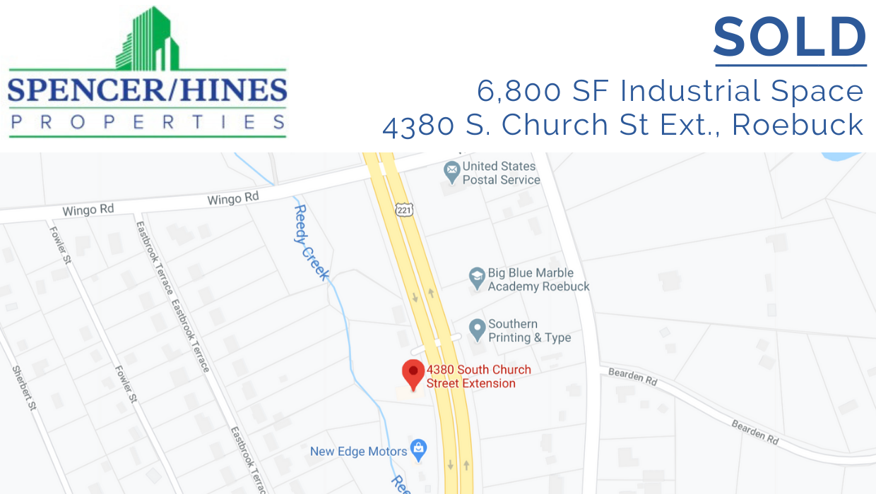SOLD – 6800 SF Industrial Space
