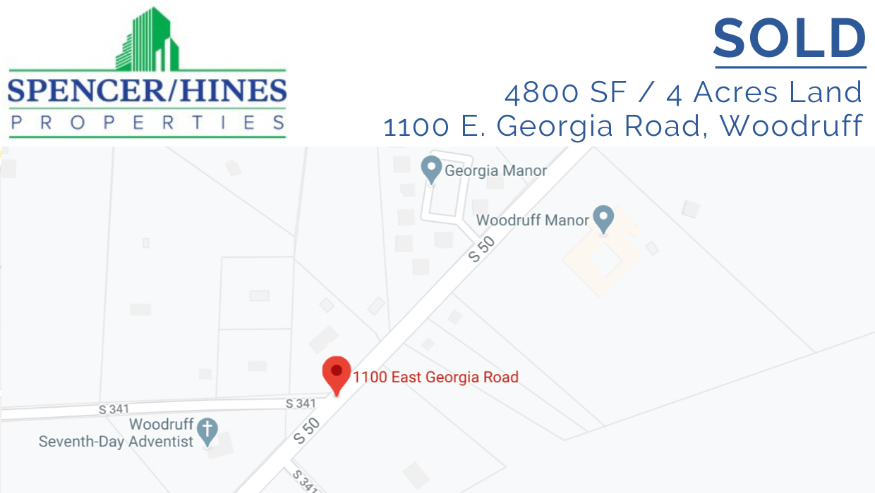 SOLD – 4800 SF / 4 Acres Land in Woodruff
