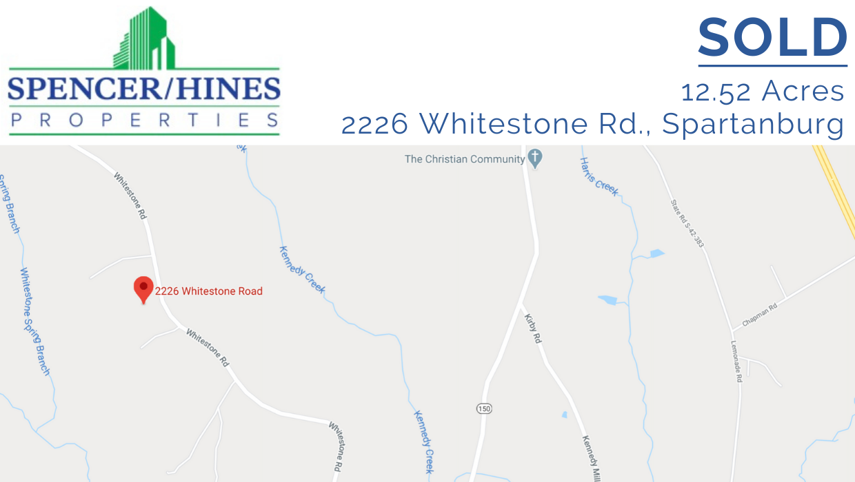 SOLD – 12.52 Acres Land, Spartanburg