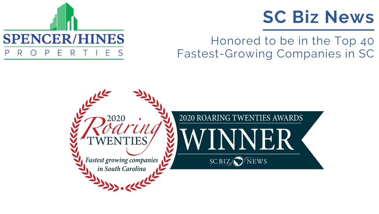 Honored to be in the Top 40 Fastest-Growing Companies in SC
