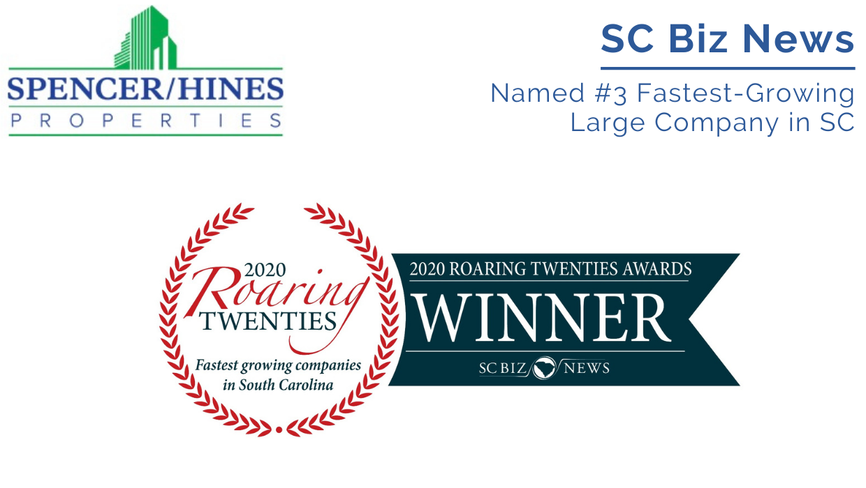 Named #3 Fastest Growing Large Company in SC